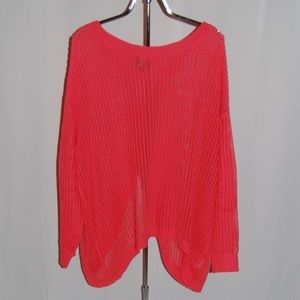 Bobeau Criss-Cross Back Open Knit Sweater